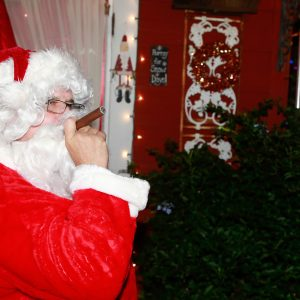 Santa takes a cigar break