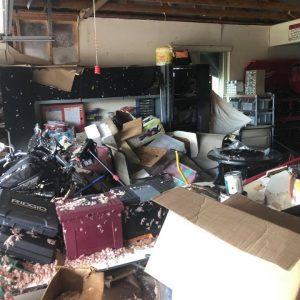 Inside House Debris