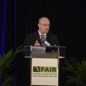 Former Fla Insurance Commissioner Kevin McCarty addressing FAIR Gala 00837