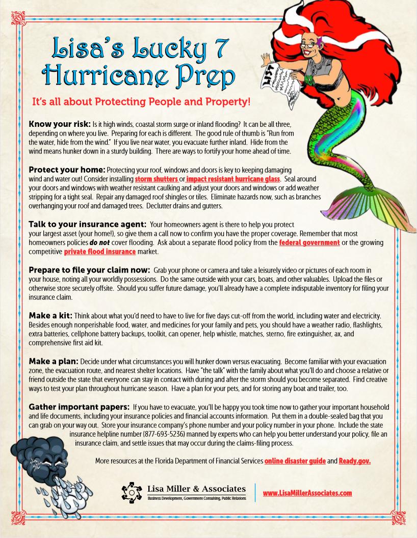 Hurricane Season Preparation Tips