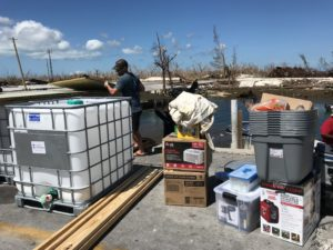 Hurricane Dorian supplies delivered in the Bahamas
