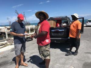 Hurricane Dorian supplies delivered