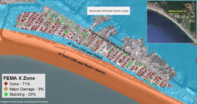 FEMA X Zone Map of Mexico Beach, FL 2009