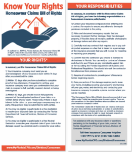 Homeowner Claims Bill of Rights (clickable)