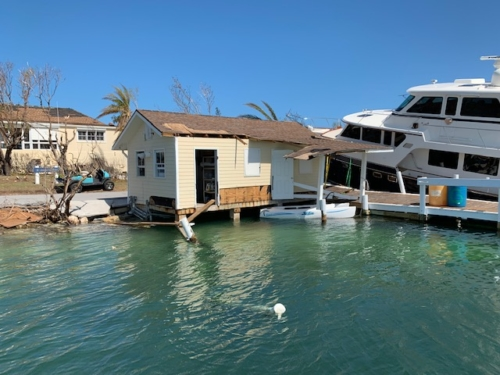 Marine damage from Hurricane Dorian