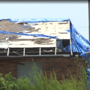 Hurricane Michael damage of roof