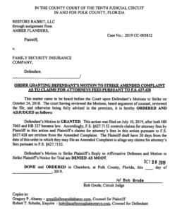 Pic of Order to Strike in AOB Reform case Polk Co.
