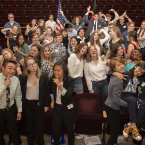 High school students celebration debate